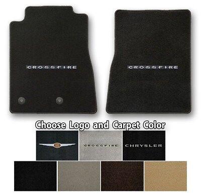 Chrysler Crossfire Velourtex Carpet Floor Mats- Choice of Carpet Color & Logo
