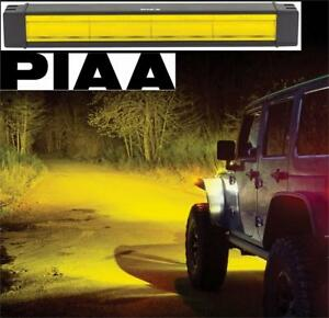 "NEW PIAA LED FOG LIGHT BAR YELLOW 22-77218 229500241 RF Series Yellow 18"" SAE Compliant Fog Beam LED Light Bar Kit"