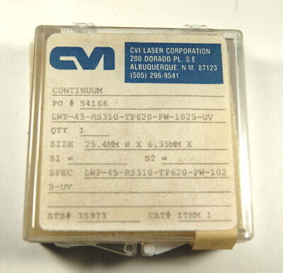 Cvi 1 Dia. Lwp Long Wave Pass Filter Uv R 310nm And Lower T 620nm On
