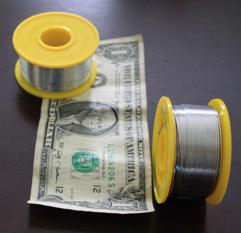60/40 Tin/Lead Flux 2 % .8mm Tin Rosin Core Roll Solder Wire Reel (200G)