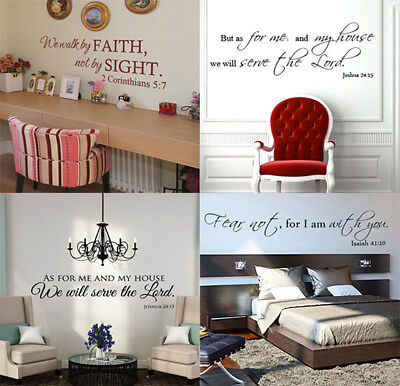 Bible Verse Wall Decals Christian Quote Vinyl Wall Art Stickers Scripture Decor](Christian Stickers)