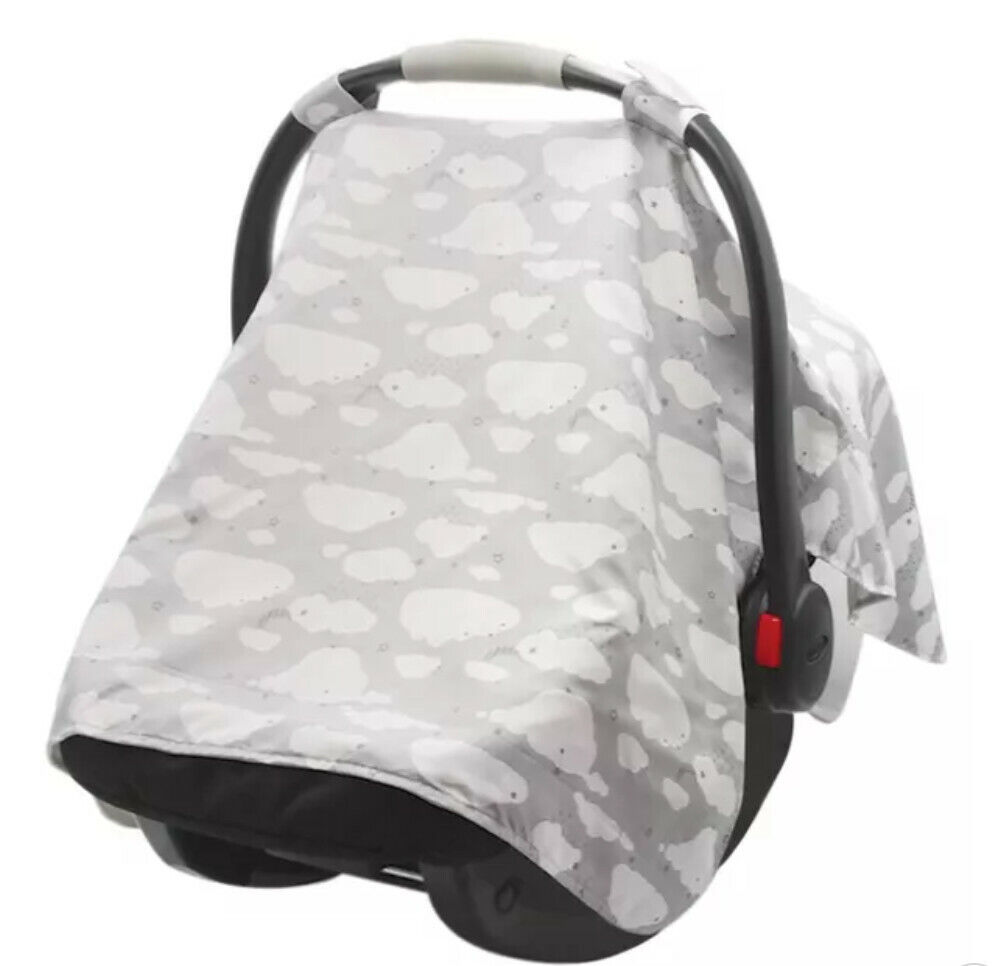GO By Goldbug Car Seat Canopy Cover Clouds UPF 50 PROTECTION  - $12.00