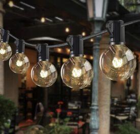 Outdoor String Lights 42FT G40 36+4 Bulbs