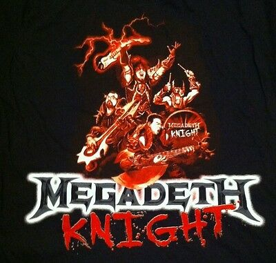 Rock Metal Band MegaDeath 100% Comfort Stretch Cotton T Tee Shirt Size- XL