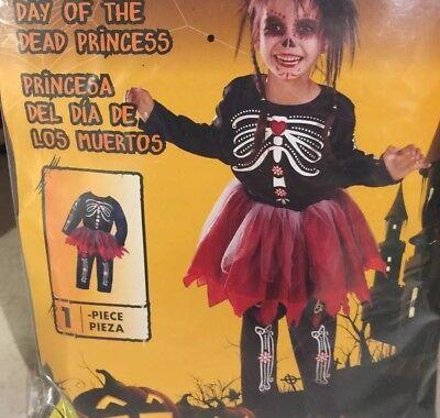 Girls Day of the Dead Princess Halloween Costume Skeleton Sugar Skull  1-2 Year](Skeleton Princess Halloween Costume)