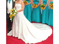 Custom made Wedding dress size 10