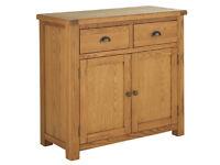 EX DISPLAY Kent Small Solid Oak & Oak Veneer Sideboard