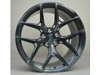 """20"""" Gunmetal Brushed AMS HF5 Forged Wheels for F80 M3 & F82 M4"""