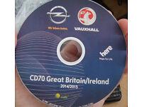 Navi maps for Vauxhall CD70, DVD90, NCDC