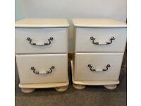 Bedroom Furniture 2 x 2 Drawer Bedside Cabinets