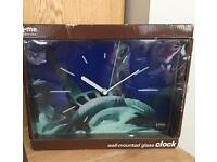 Wall mounted Glass Clock