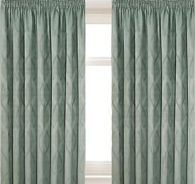 Thermal lined curtains, duck egg colour