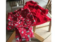 Christmas dressing gown and pyjamas 18/23 mths