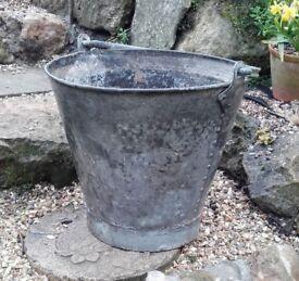 Vintage galvanised bucket/planter