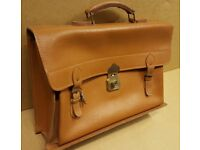 Light Tan Leather Briefcase - 50s - 60s period excellent condition