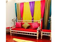 Asian Wedding Stage Hire/Mehndi Stage hire from £300