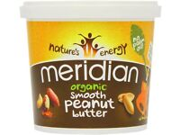 Meridian Smooth Peanut Butter No Salt 1KG100% Nuts + No Palm Oil