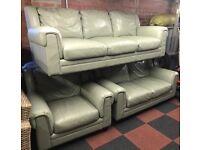 3 2 1 leather sofa