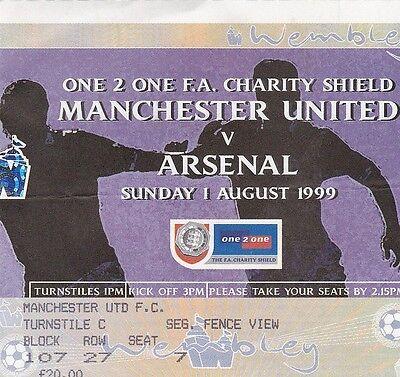 1999 CHARITY SHIELD - ARSENAL v MAN UTD - USED MATCH TICKET