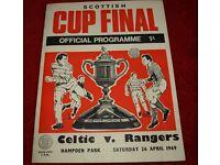 Scottish Cup Final 1969 Celtic v Rangers