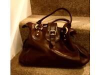 Brown leather Pell Mell handbag