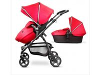 Excellent condition Silver Cross Wayfarer pram system Chilli red
