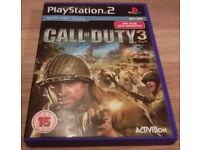 Call of Duty 3 PS2 - Good Condition - Video Game