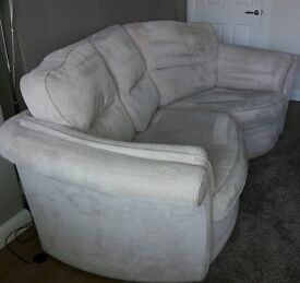 Cream 3 seater sofa
