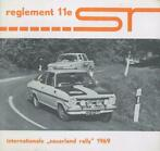 1969 Reglement 11e Internationale Sauerland Rally