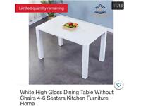 White Glossy Kitchen/Dining Table