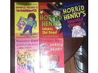 Horrid Henry - USED a collection of 5 books good condition