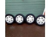 VW UP 14 inch steel wheels/trims