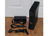 XBOX 360 250GB WITH WIRELESS CONTROLLER AND 2 GAMES