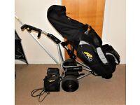 Powacaddy Freeway Titanium Golf Cart & 14 Slot Bag