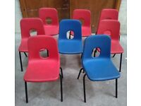 Childrens plastic chairs school chairs