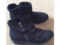 BNWT F&F Black Wedge Boots