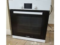 Bosch electric oven, Ariston ceramic hob and extractor fan