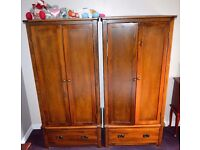 Boston Dark Stain wardrobe