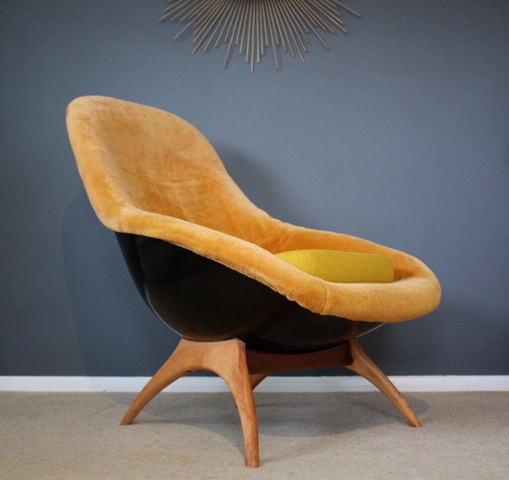 Lurashell Gemini Mid Century Egg Chair Retro Vintage 60s