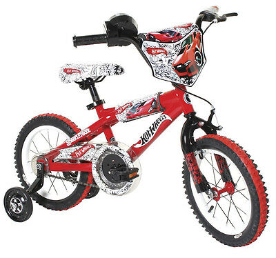 "14"" Dynacraft Training Hot Wheels Boy's Bike Metal Frame Knobby Tires Red"