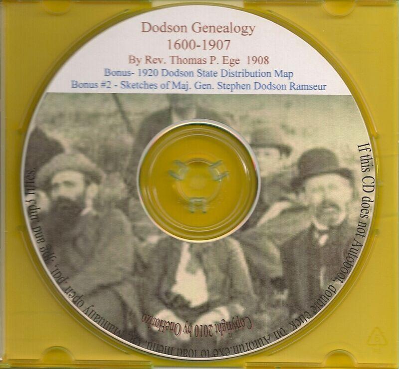 Dodson / Dotson Family Genealogy - VA, PA, NJ, MD, NC, KY, TN
