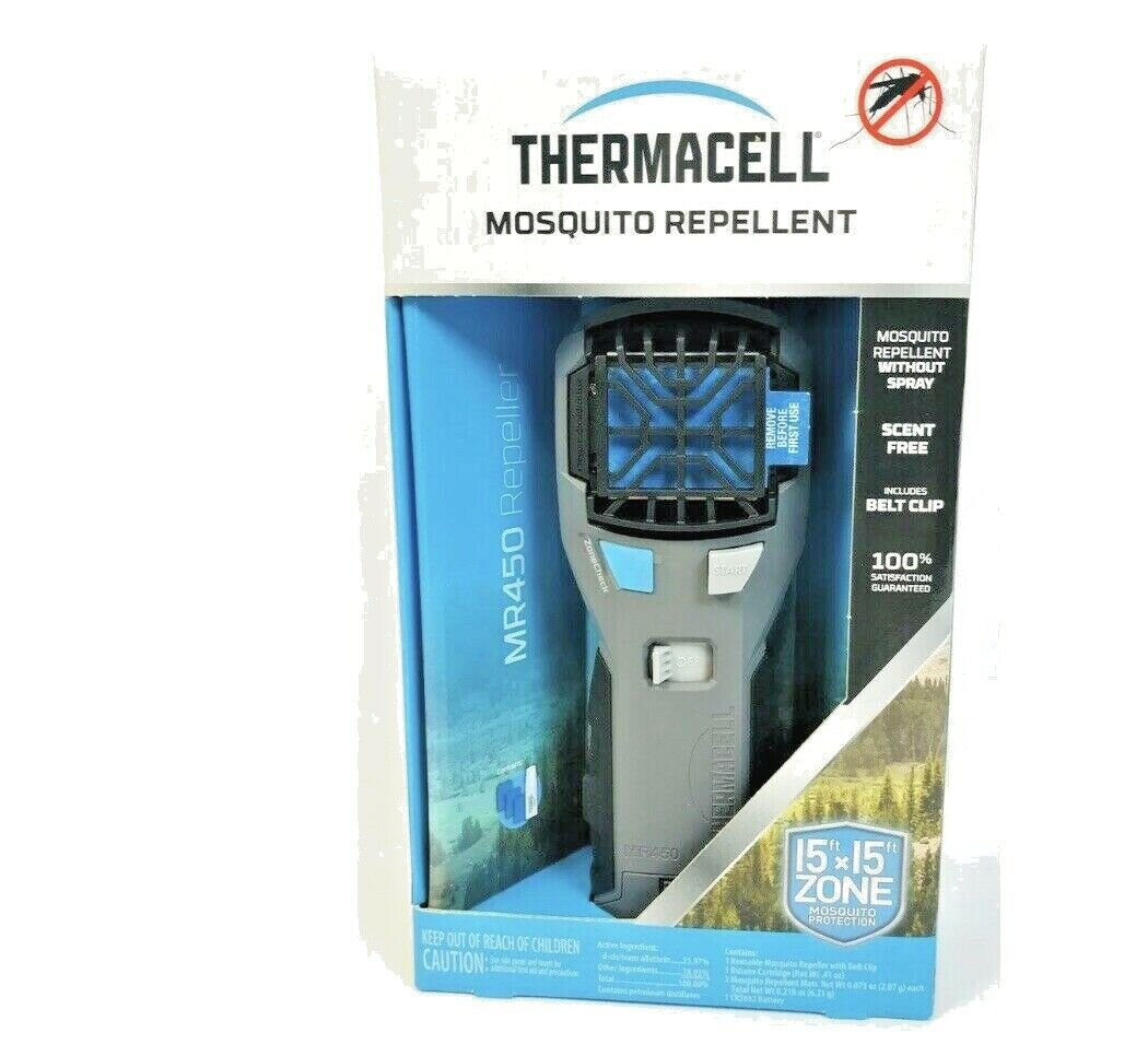 Thermacell Portable Silent Mosquito Repeller, Protects 15'x1