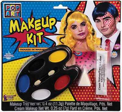 Comic Book Makeup Halloween Costume (Pop Art Makeup Kit 50's Comic Book Retro Fancy Dress Halloween Costume)