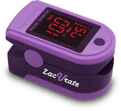 Zacurate® Purple 500DL Pro Series Pulse Oximeter Heart Rate Monitor Spo2 - Purple O