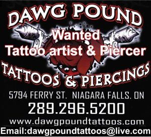 Wanted tattoo artist and piercer