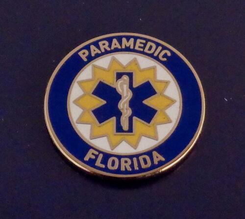 Florida PARAMEDIC patch Lapel/Collar pin FL