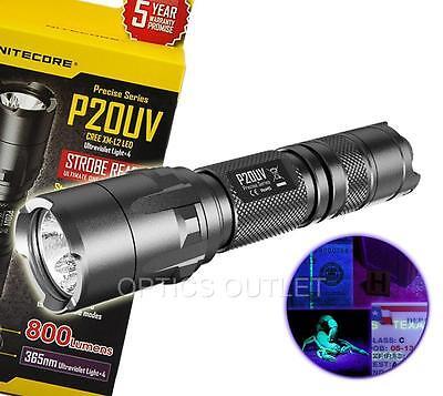 Nitecore P20UV Tactical LED Flashlight - Built-in UV Black L
