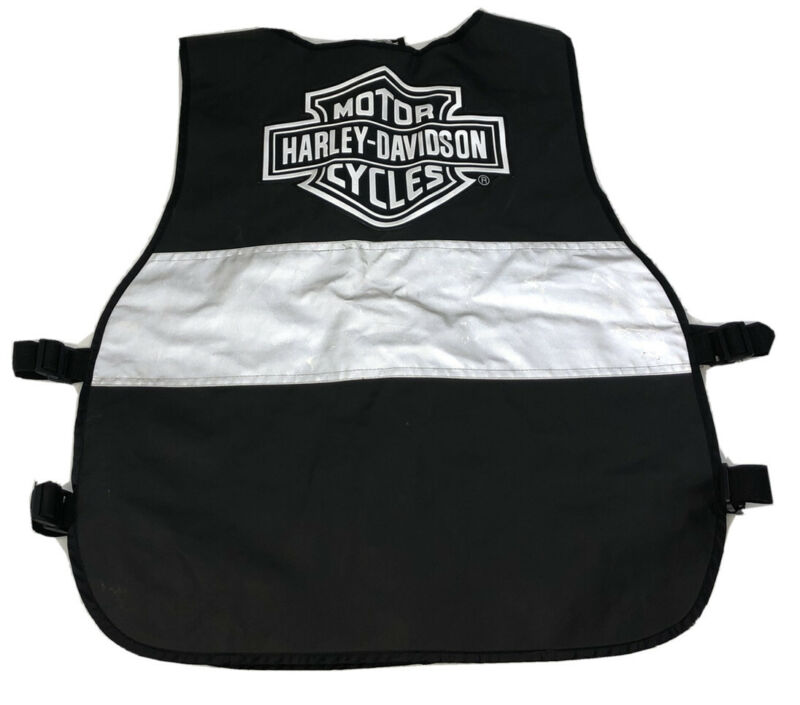 HARLEY DAVIDSON Reflective Black & Silver Safety Riding Vest Adjustable