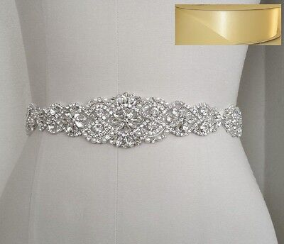 Wedding Bridal Sash Belt, Crystal Pearl Wedding Dress Belt = IVORY satin sash