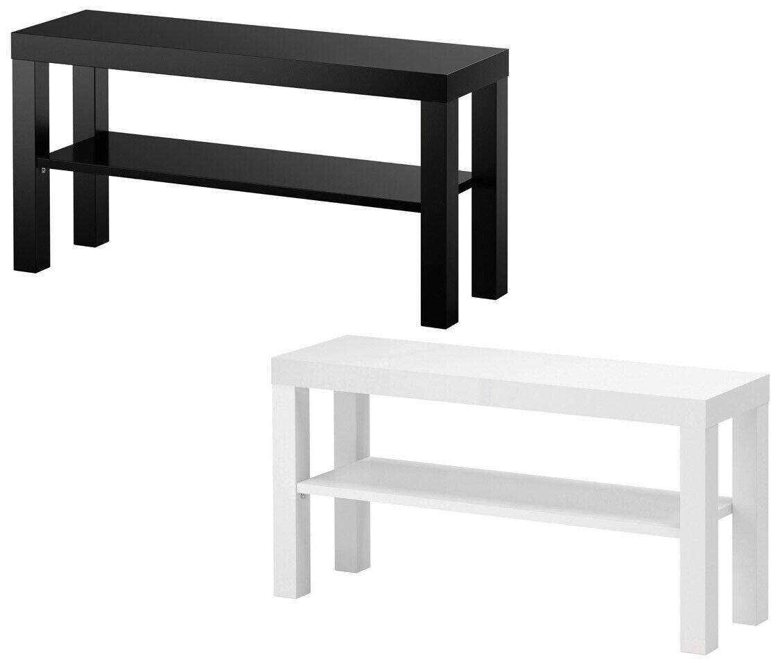 IKEA LACK TV Fernseher Bank Fernsehtisch Lowboard Hifi Regal Weiß Schwarz